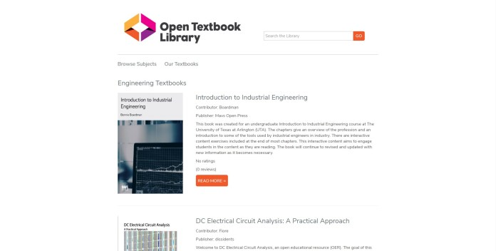 open textbook library to download free textbooks
