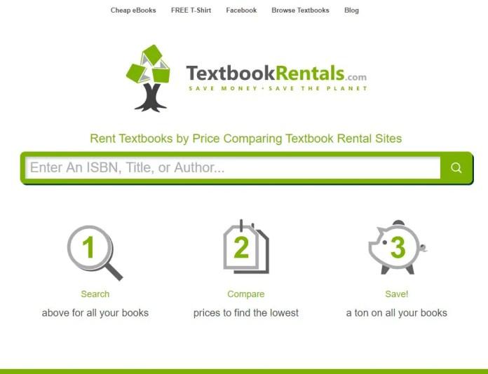 textbookrentals college textbook rental comparison