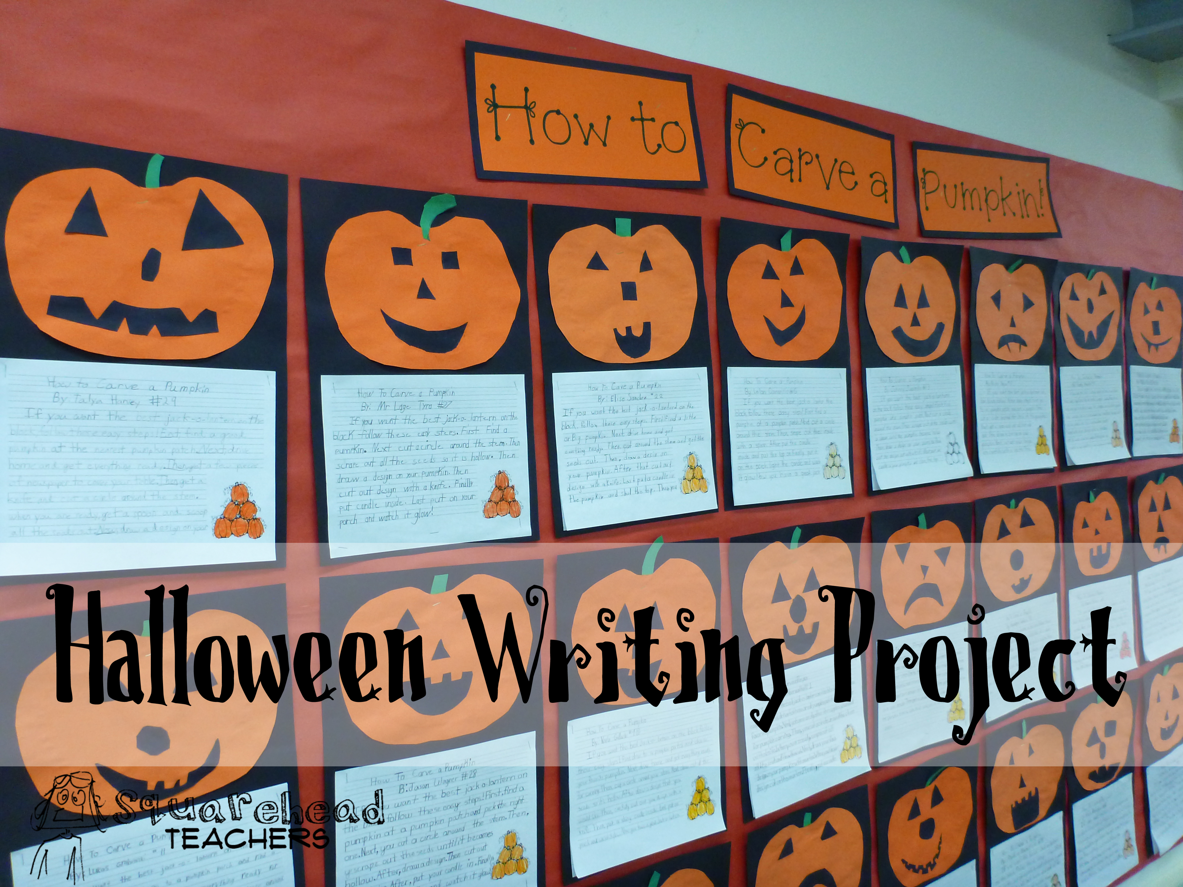 How To Carve A Pumpkin Halloween Writing Project