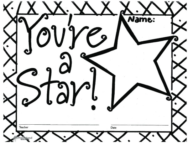 Youre A Star free printable blank certificates
