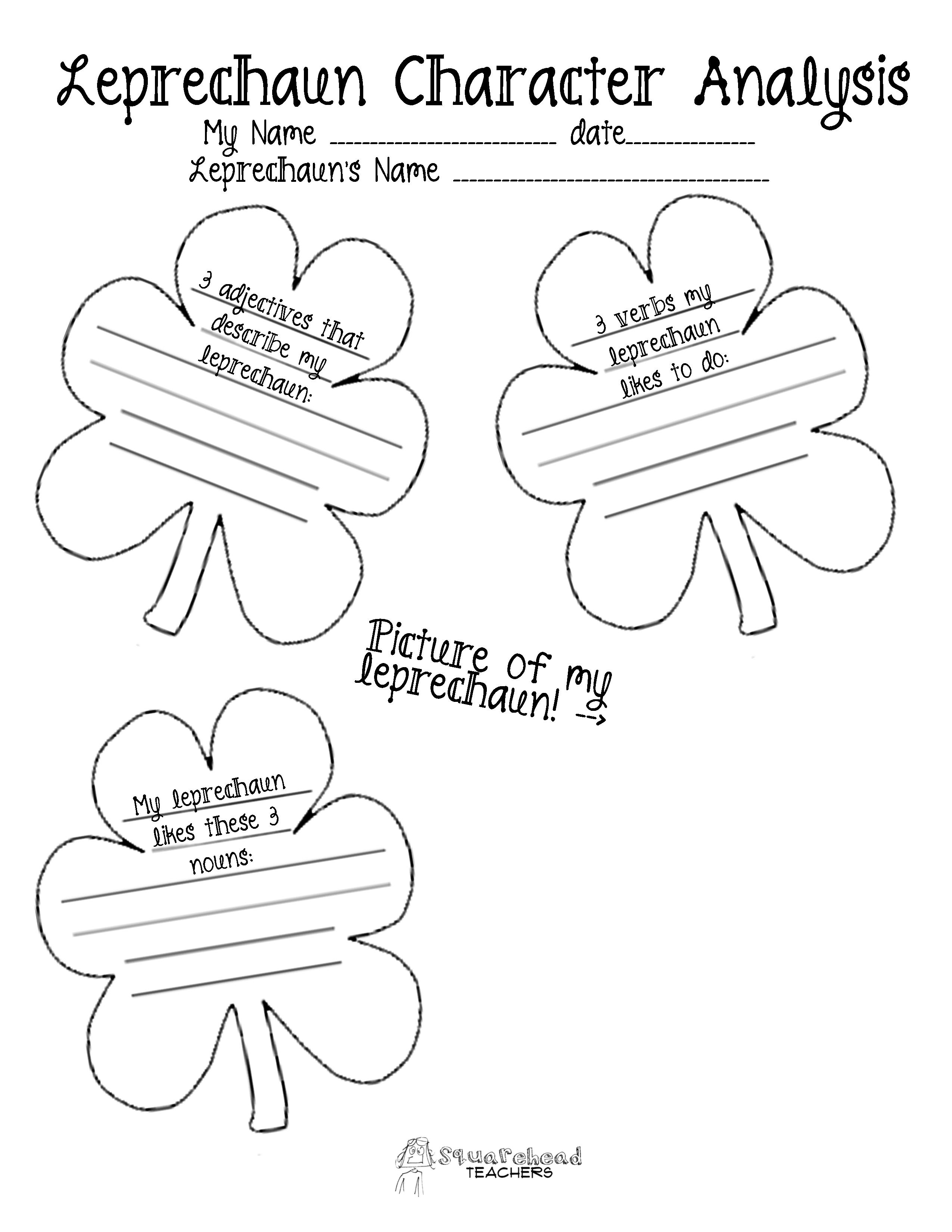 Leprechaun Characterysis Writing Updated