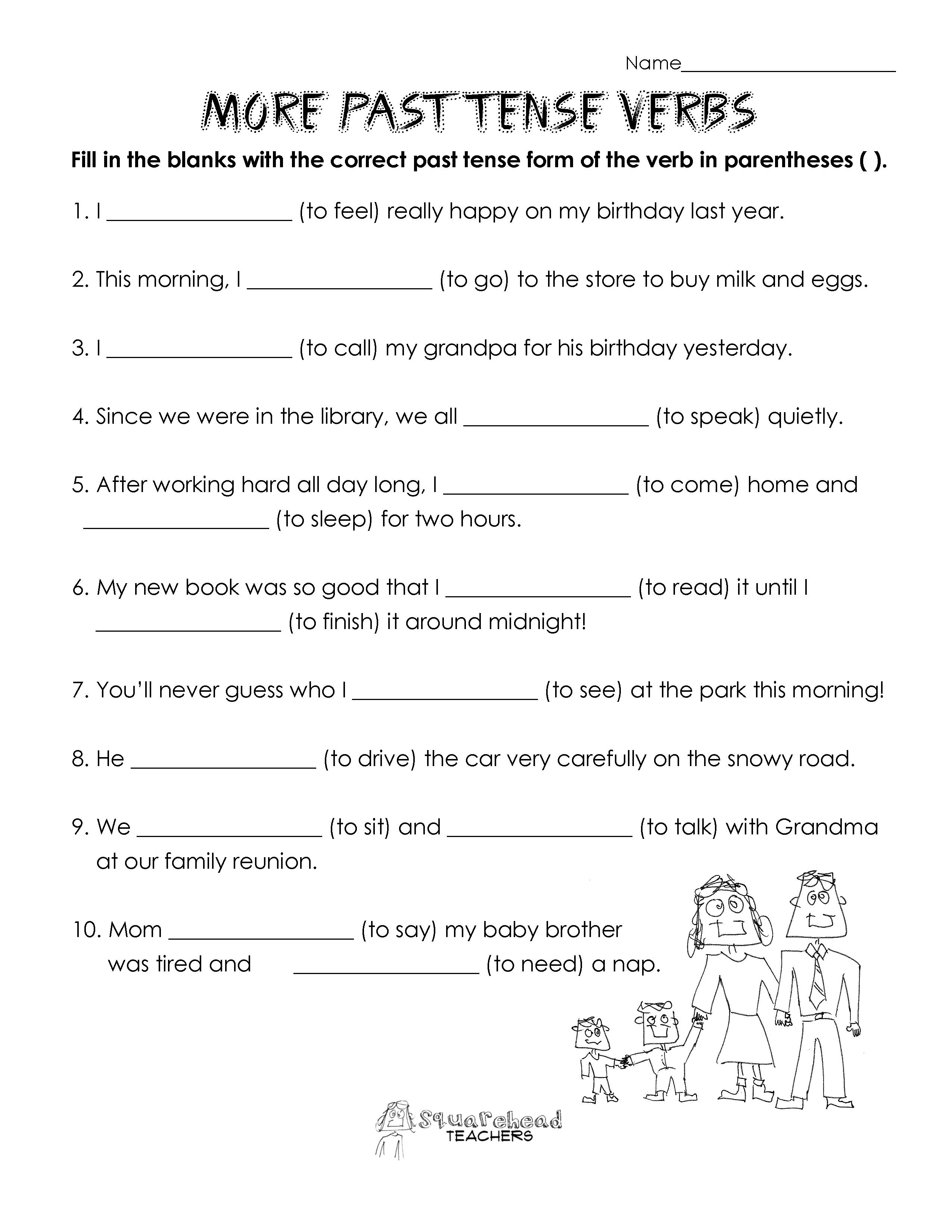 Past Tense Verbs Practice