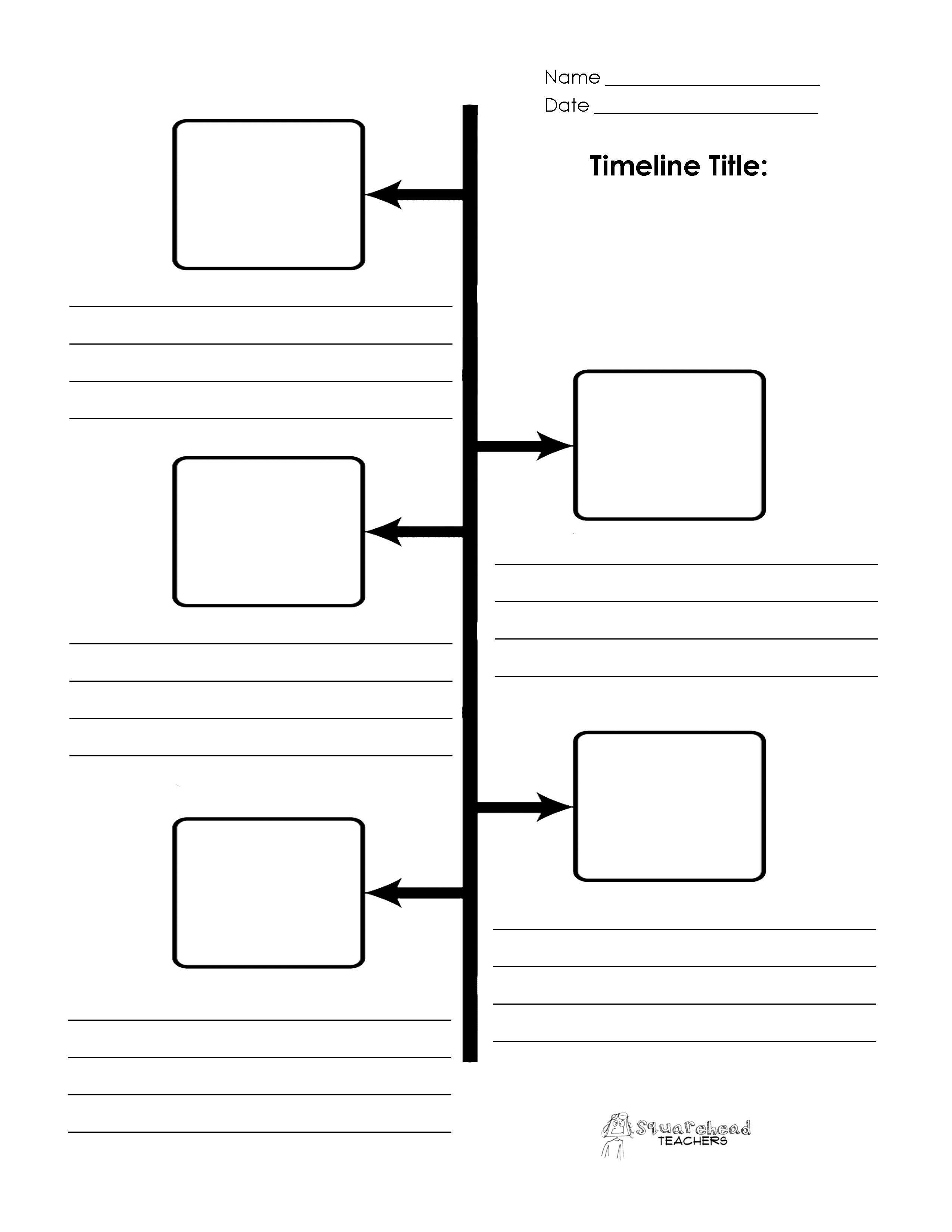 Timeline Boxes And Lines