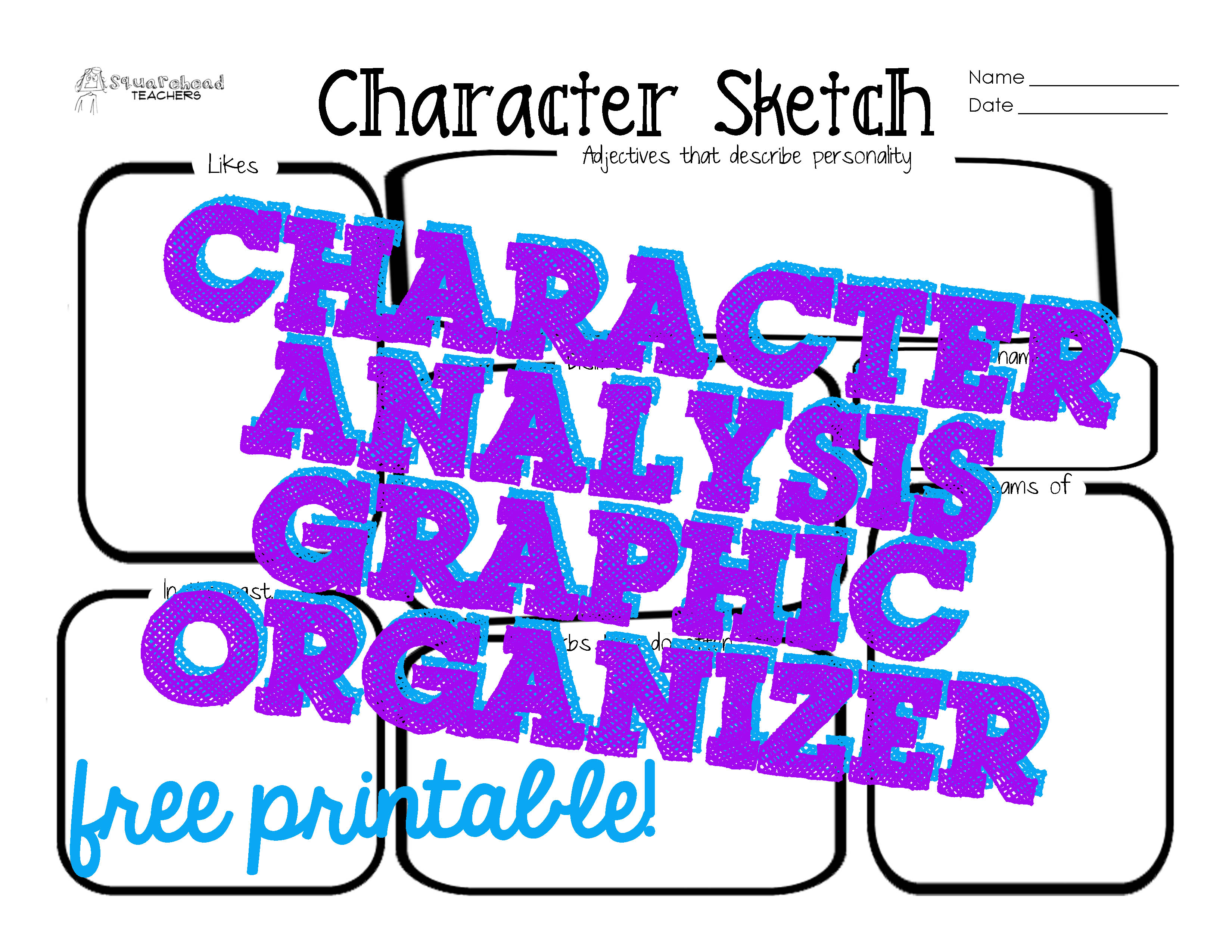 Characterysis Graphic Organizer Middle School