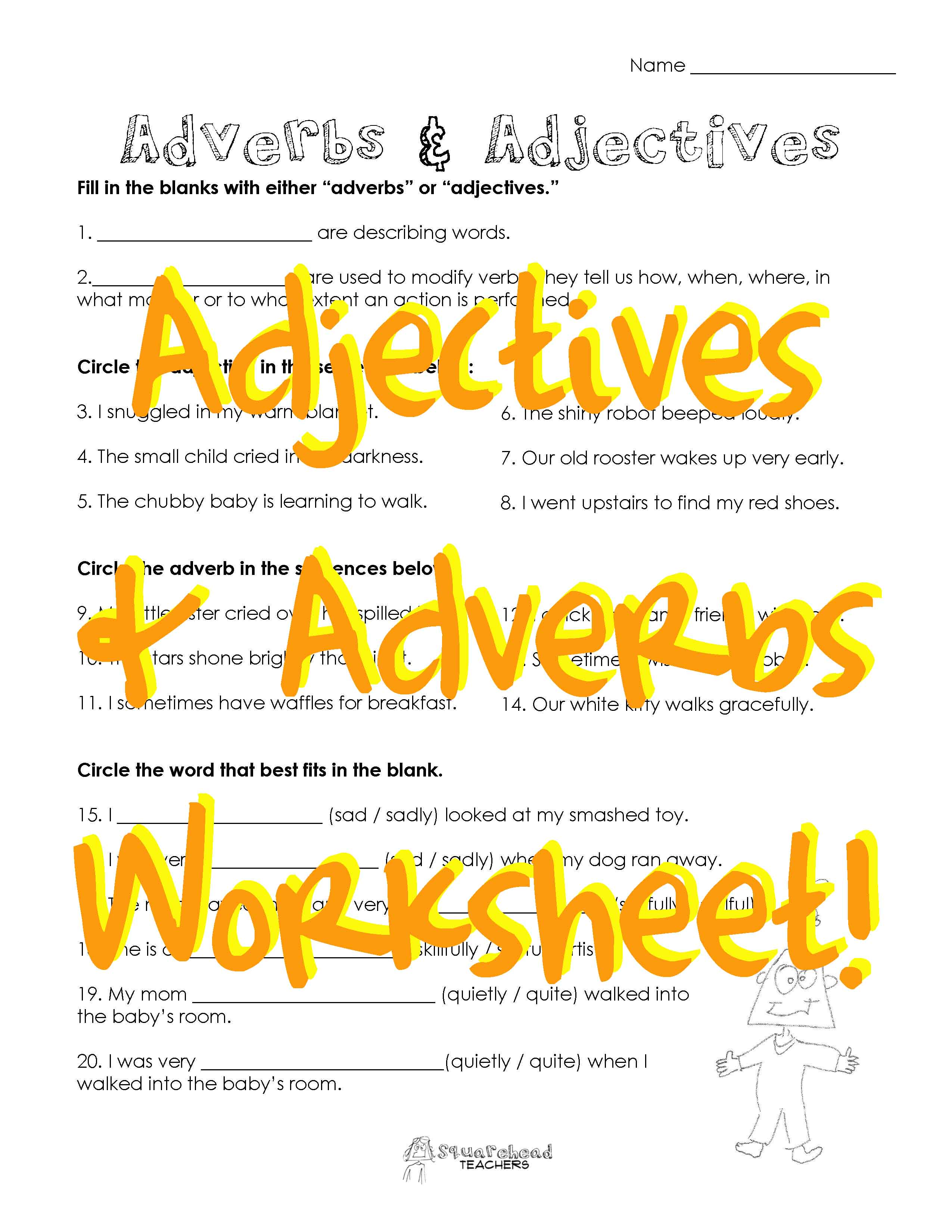 Adjectives Amp Adverbs 2 Free Worksheet