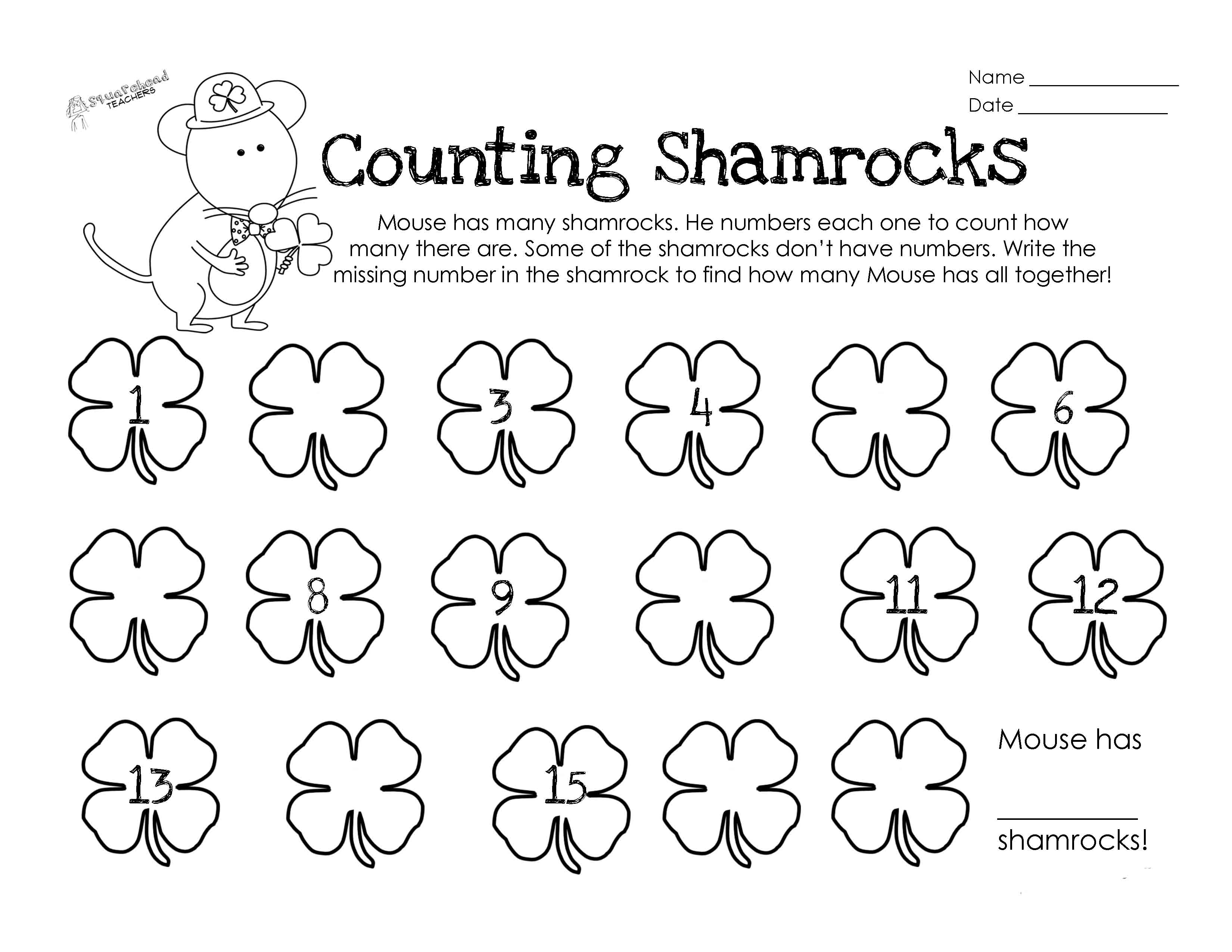 Math Worksheet Counting Backwards