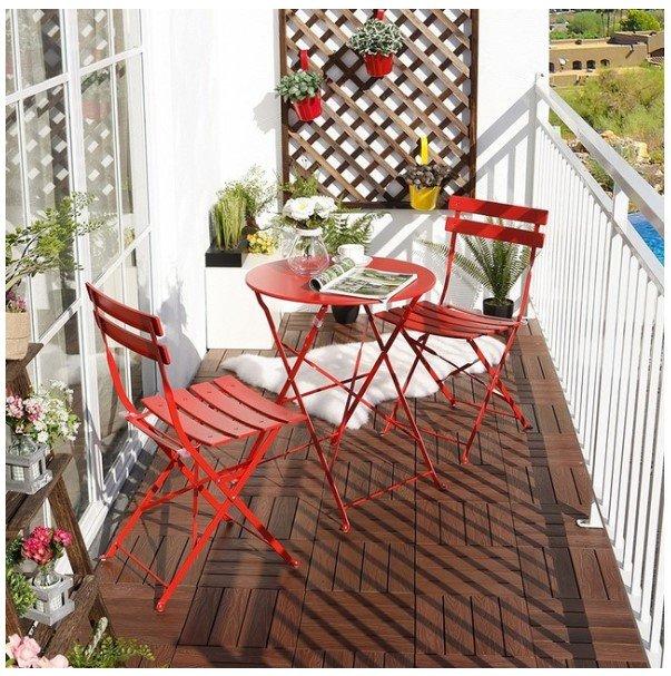16 small balcony patio bistro sets