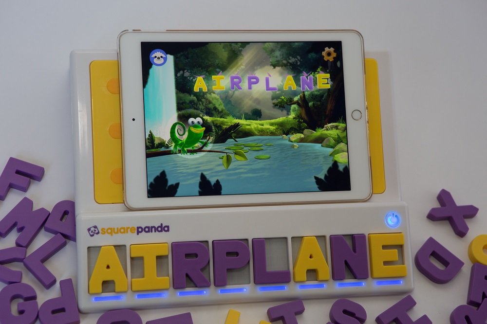 Square Panda playset with the word Airplane spelt out