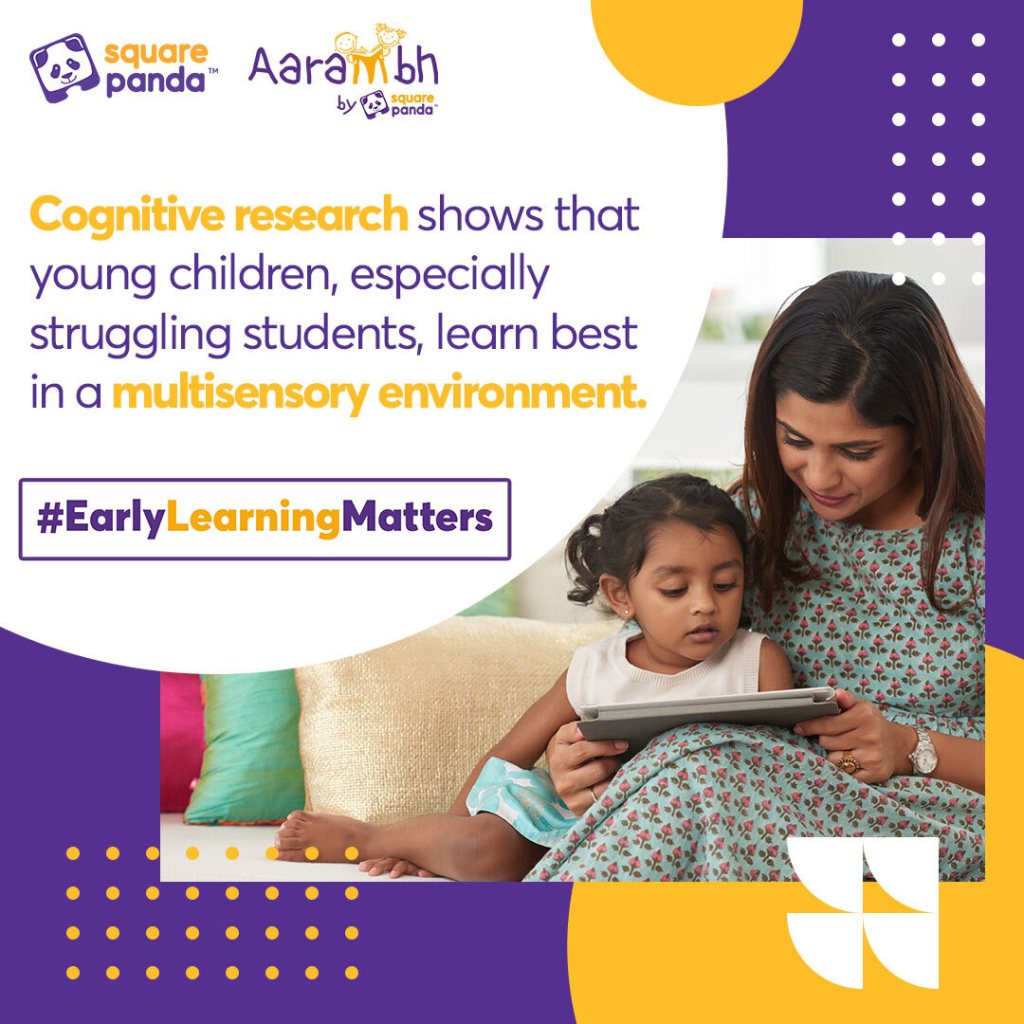 A fun fact about how students learn better in multisensory environments - Cognitive research shows that young children, especially struggling students, learn best in a multisensory environment.