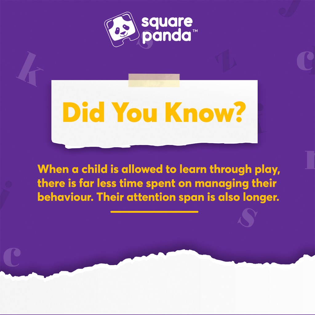 A fun fact about the science behind teaching children via play-based methods