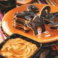 Black Cat Cookies and Pumpkin Pie Dip