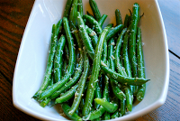 Garlic Green Beans, Quick Holiday Side Dish