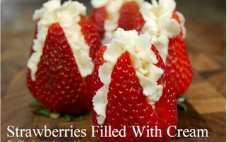 Strawberries Filled with Cream: Dazzling!
