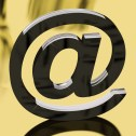 Silver Email Sign Representing Internet Mail And Communication