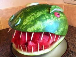 Carve a Watermelon: T-Rex!