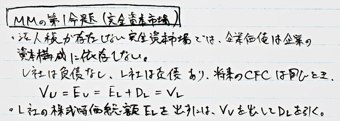 MM命題1