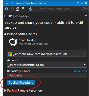 Part 1: Publish to an Azure DevOps Repository | James Still