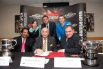 Allam British Open sponsorship contract signing group