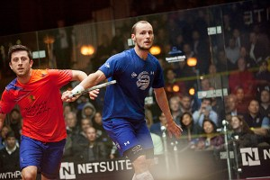 Gregory Gaultier (blue) and Daryl Selby