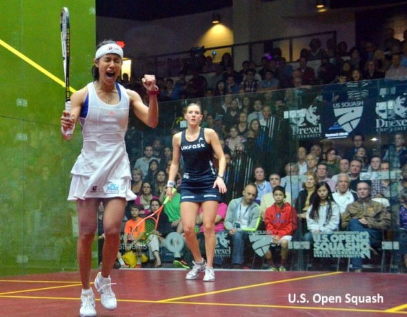 Nicol David wins the 2013 US Open and collects the same prize money as the men's champion
