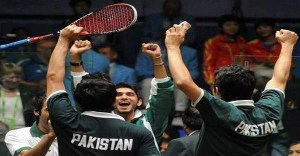 Pakistan celebrate a victory over India