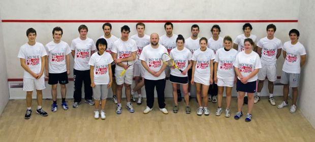Cambridge University students support World Squash Day