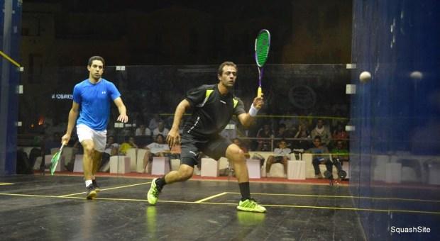 Amr Shabana in control against Tarek Momen