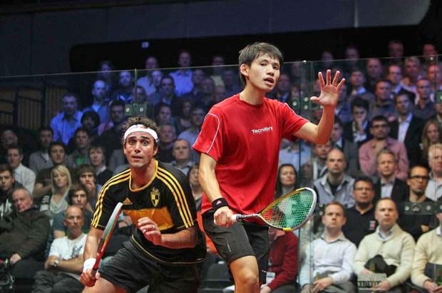 Karim Darwish and Max Lee in action