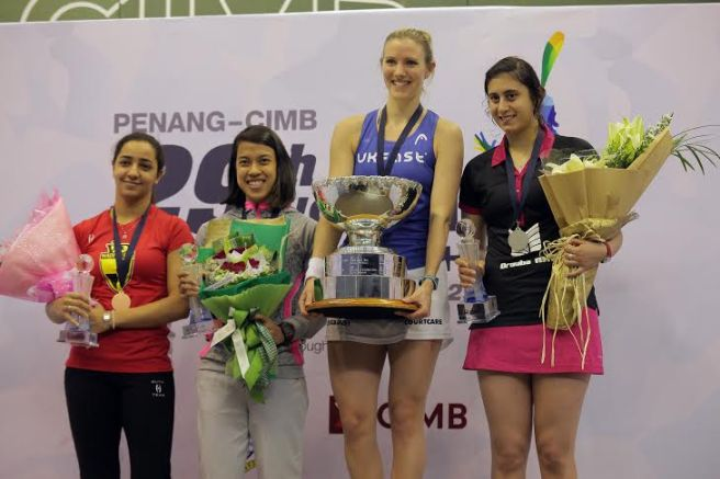 Nicol David shares third place at the Worlds
