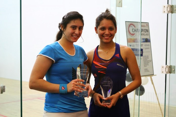 Champion Nour El Sherbinia and runner-up Dipika Pallikal