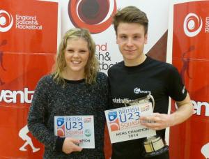 Under-23 winners Carrie and Charles Sharpes