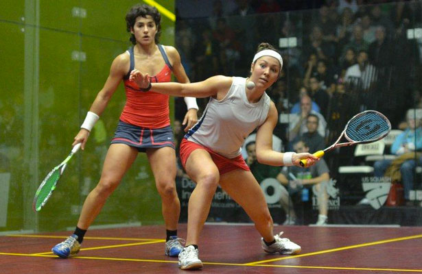 Amanda Sobhy (right) in action