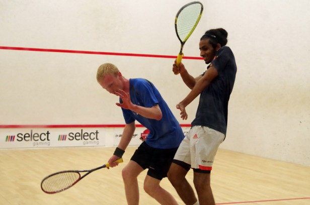 Mid-court mayhem as Youssef Abdalla overcomes James Evans