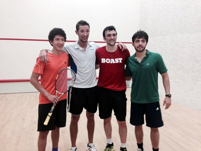 Jesus Camacho (3rd), Charlie Johnson (2nd), Chris Hanson (1st), Ricardo Lopez (4th)