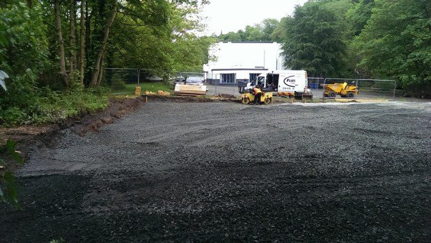 The footings go down for the new court