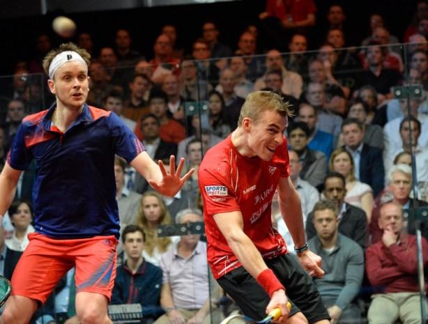 English rivals Nick Matthew and James Willstrop