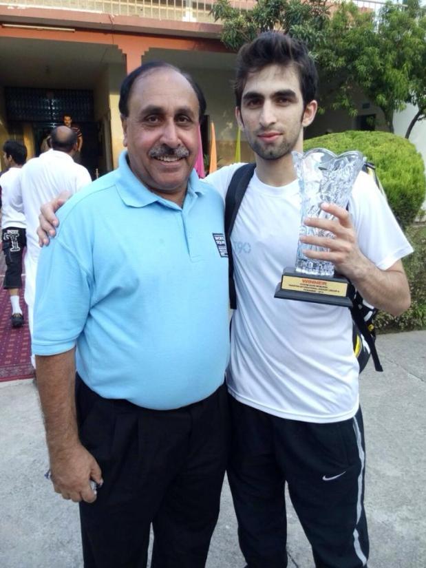 Danish with coach Fahim Gul