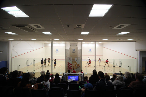 Moveable side walls create doubles courts at Scotstoun