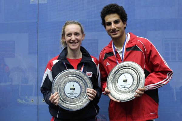 World student champions Millie Tomlinson and Hesham