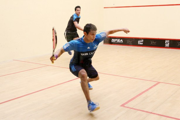 Saurav Ghosal is forced into the back corners
