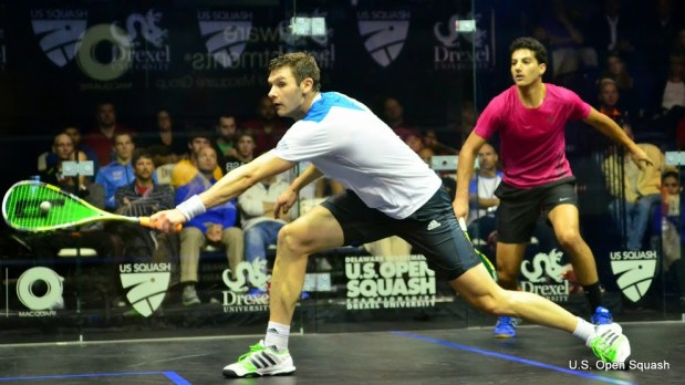 Adrian Waller dominates the middle of the court