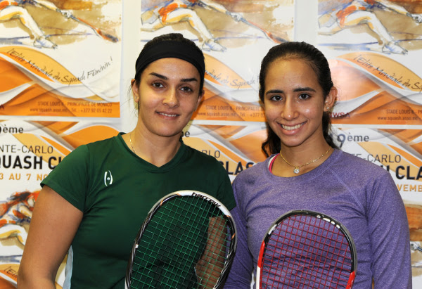 Nouran Gohar (right) with Omneya Abdel Kawy before the final