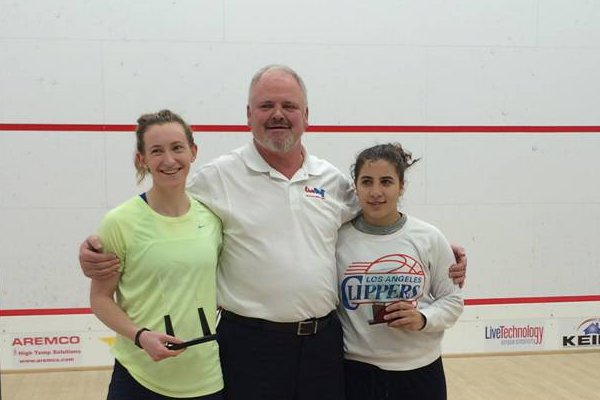 Millie Tomlinson (left) and Kanzy El-Defrawy after the final