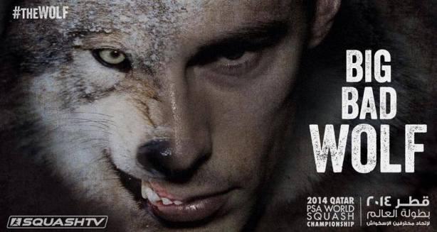 Beware The Wolf Man: PSA SquashTV marketing material