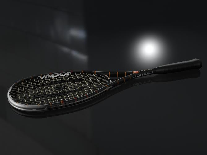 The special edition Canary Wharf Classic racket from Harrow