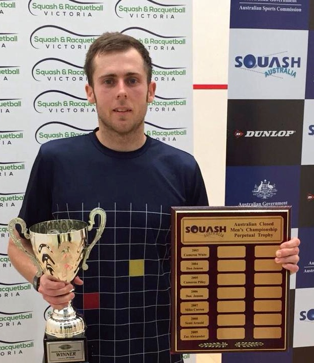 Ryan Cuskelly with the Australian trophy