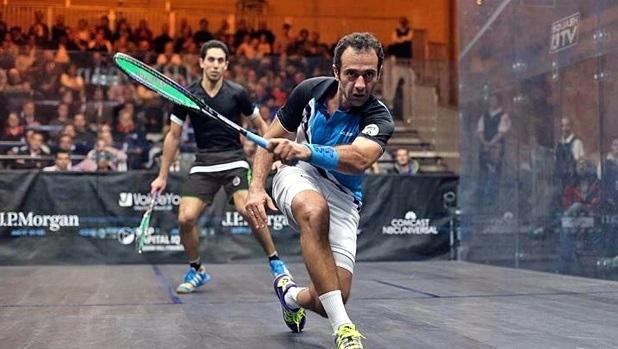 Amr Shabana on the attack against fellow Egyptian Tarek Momen