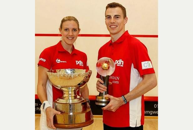England's former world champions Laura Massaro and Nick Matthew