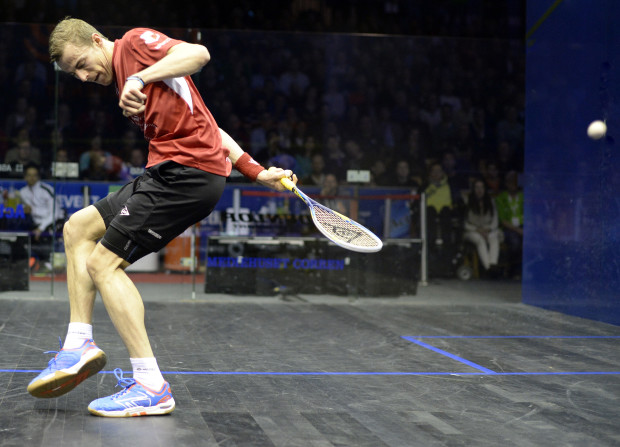 Back for more: Nick Matthew returns to Canary Wharf after winning in Sweden
