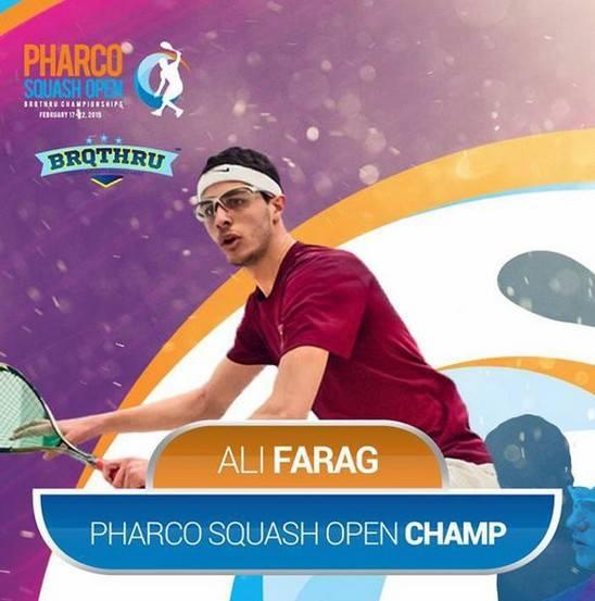 Alexandria champion Ali Farag